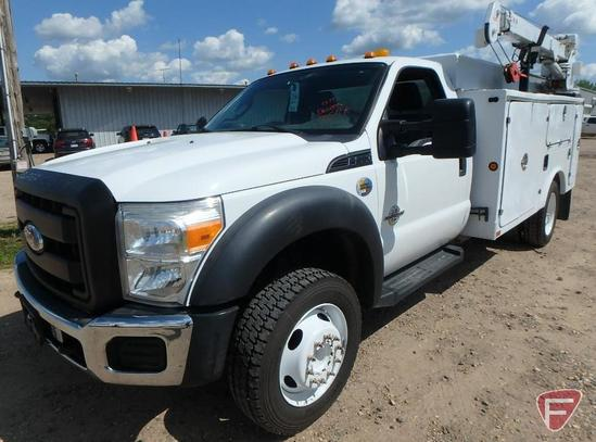 2011 Ford F-550 Service Body Truck with Crane