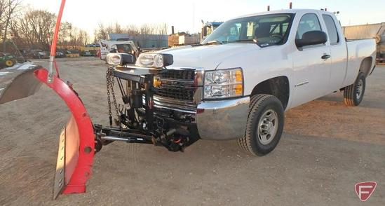 "2009 Chevrolet C2500 4X4 Pickup Truck With 7'6"" Western Pro-Plus Snow Plow"