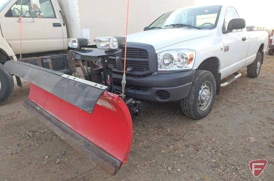 2009 Dodge Ram 2500 Cummins Pickup Truck with Western Snow Plow