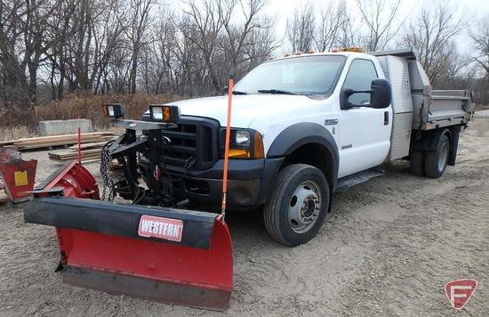 2007 Ford F-450 Pickup Truck with Snow Plow
