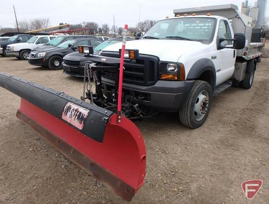 2006 Ford F-450 Truck with Snow Plow