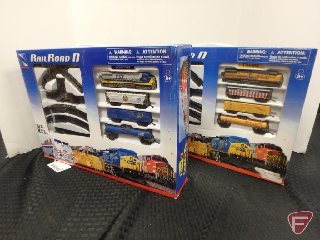 2 Union Pacific die-cast railroad sets