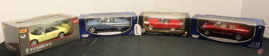 Ford Thunderbird, Chevrolet Impala and other assorted model cars