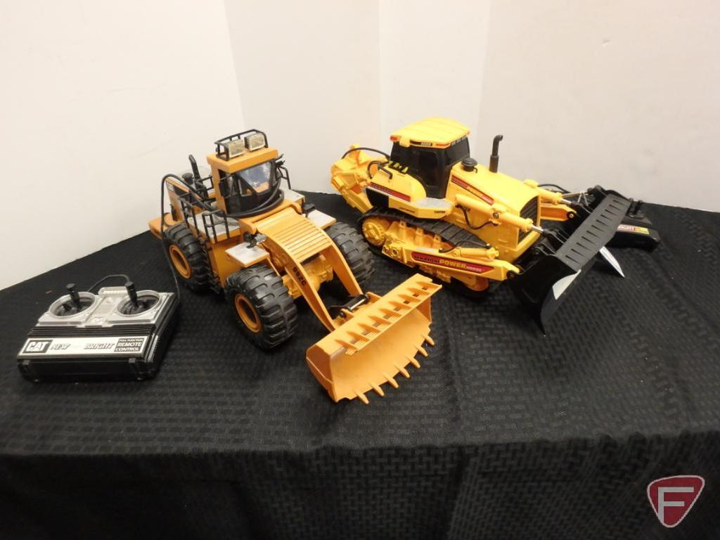 Cat RC loader and New Bright Power Horse RC dozer