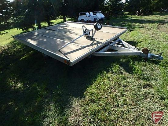 1996 Sled Bed Snowmobile Tilt Trailer, VIN # 41KM1415T2012485
