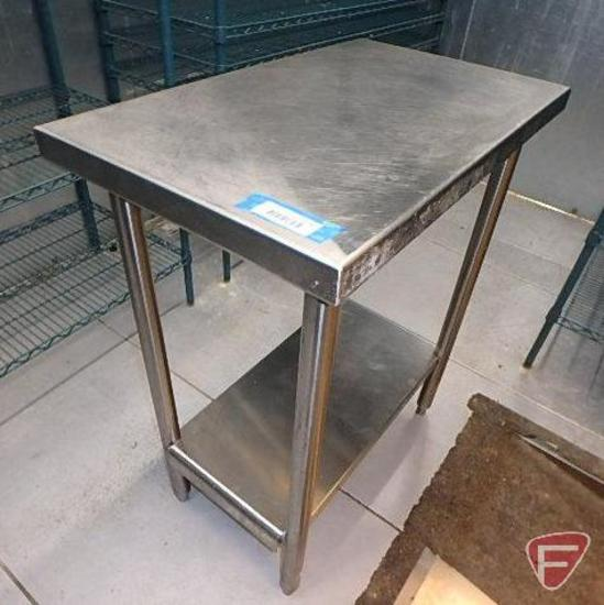 "Stainless steel table with under shelf, 18""x30""x36""H"