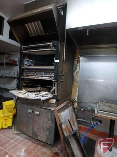 2 door oven with exhaust hood