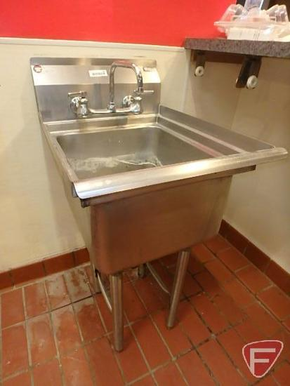 "Ironwork stainless steel bar sink with 10"" backsplash"