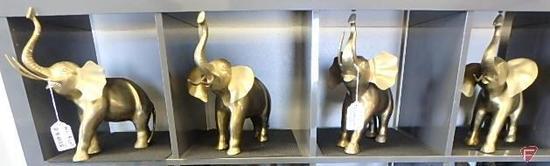 Brass elephants, 4 pcs