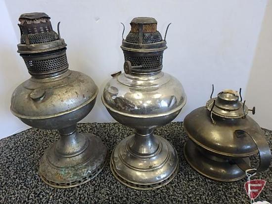 Kerosene lamps, 3 pcs