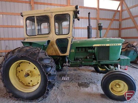 1966 John Deere 4020 gas tractor with Cozy Cab, power steering and wide front, 94HP, 5866 hours