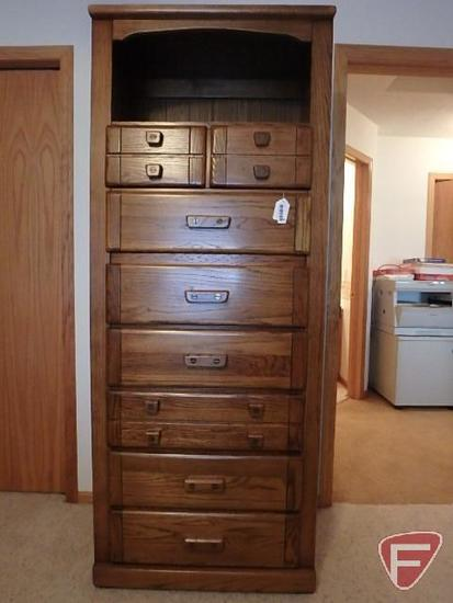 Harrison dresser with drawers and storage, 76 in high x 30 in wide
