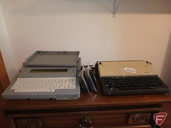 Brother electric typewriters (2), WP-760D, AX-10