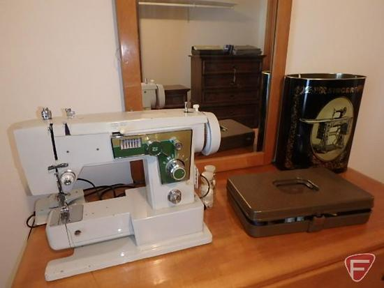 Portable open-arm sewing machine, model 1000FA, Serial 62243