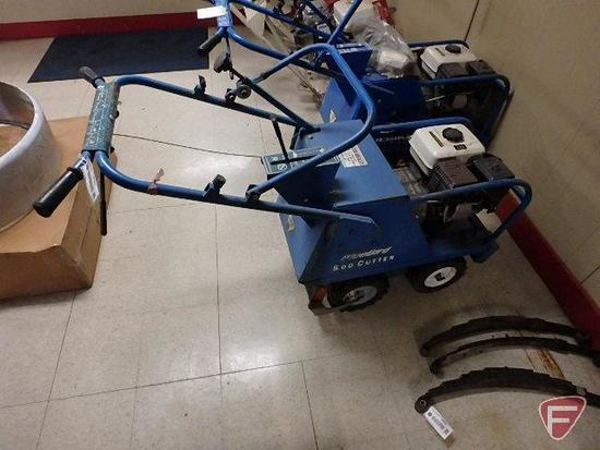 "Bluebird sod cutter, Honda 5.5 hp gas engine, 16"" cut"