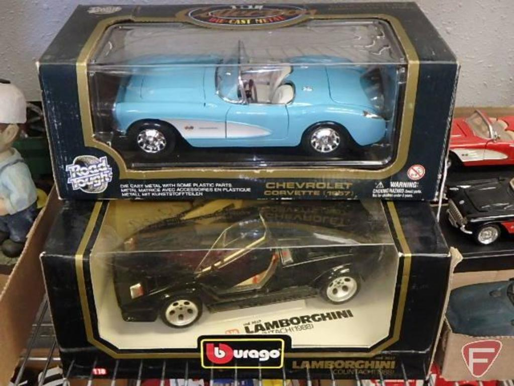 Replica Cars 1 18 Bburago Lamborghini Countach 1988 And Road Tough Chevrolet Corvette 1957