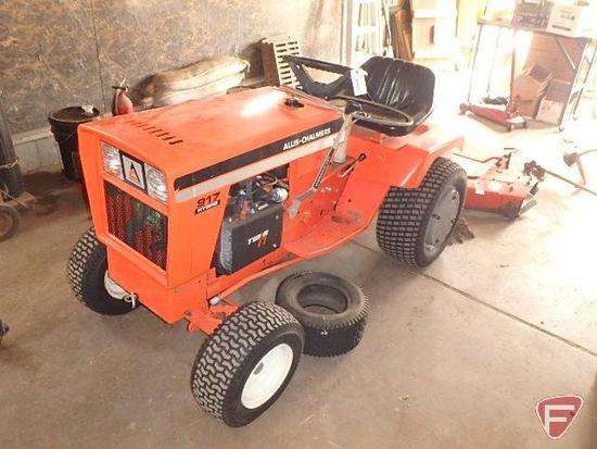 Allis Chalmers 917 Hydro garden tractor with Twin 17hp gasoline engine, sn 004169, cat. no. 1960574,