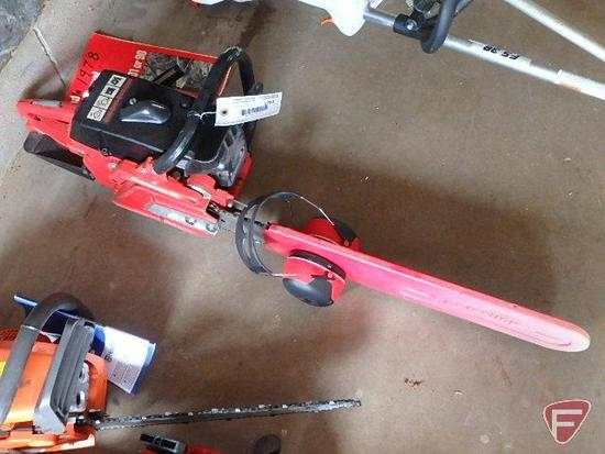 """Jonsereds 90 gas chainsaw with 24"""" bar and hearing protecting"""