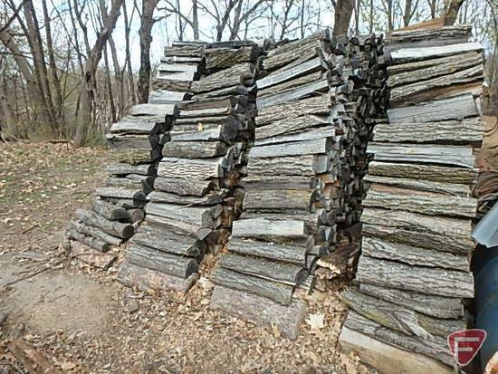 Approx. (5) cords of firewood, approx. 75% oak, some ash and