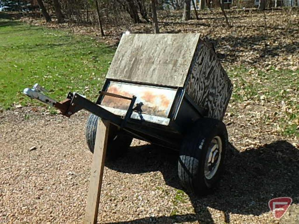 Homemade single axle utility trailer