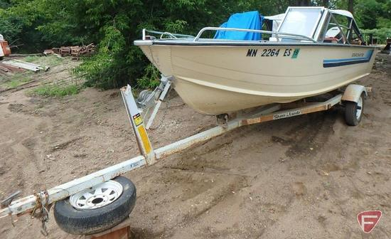 1984 Starcraft 16ft aluminum fishing boat with Johnson 70 outboard boat motor