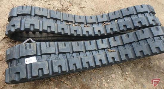 Skid loader tracks, B320x86Cx49