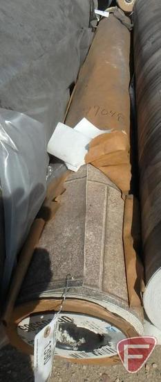 92 sq. yards of vinyl flooring, arabian spice color, 101 in. W, 259.44 lbs.