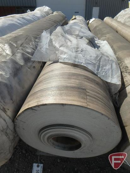 251 sq. yards of vinyl flooring, pearwood color, 100 in. W, 707.82 lbs.