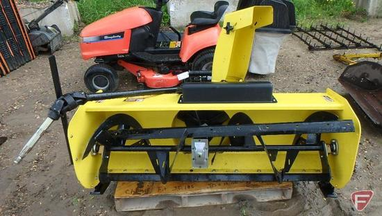 "John Deere 54"" quick hitch snow blower, 2 stage, PTO shaft"