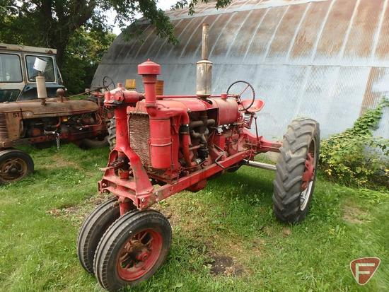 1938 Farmall F20 tractor sn FA91742, with factory start (starter not connected) and road gear