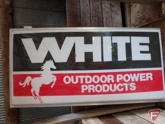"White Outdoor Products double sided outdoor advertising sign, 73""x36""x4""D"