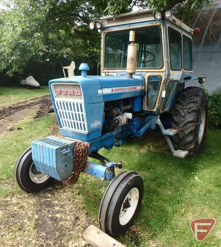 1972 Ford 5000 diesel tractor, 652 hrs showing, sn C352307