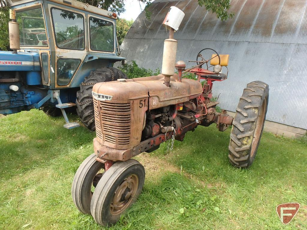McCormick Farmall H row crop tractor, narrow front, unknown year/serial