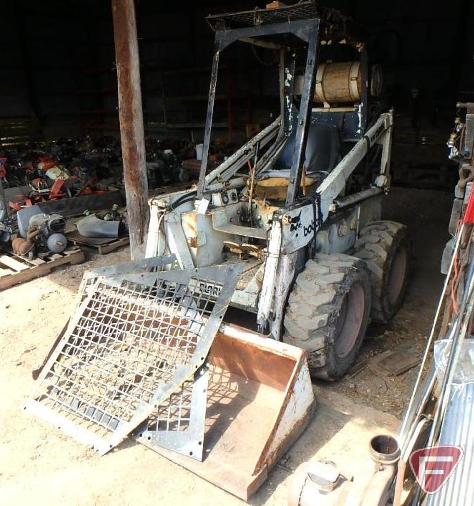 "Bobcat Clark 610 LP skid loader with 60"" dirt bucket, sn 210459"