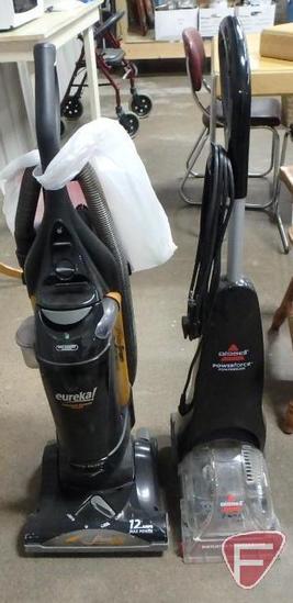 Eureka Air Speed bagless vacuum and Bissell Powerforce vacuum. 2 pieces