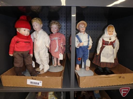 (4) Franklin Mint Country Store Dolls - Jell-O Girl, Mary Jane Candy, Domino Sugar and