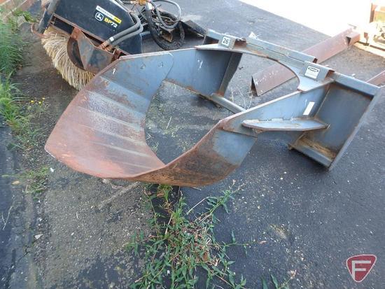 "Virnig 26"" tree spade skid loader attachment, universal mount"