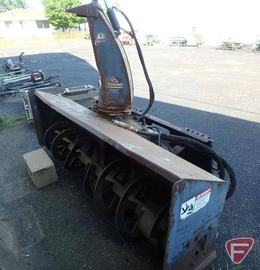"""Erskine 78"""" snow blower skid loader attachment, 2 stage"""