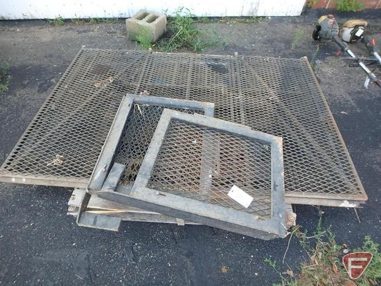 "Expanded metal tailgate ramp, (2) 66""Wx44"" sections, 88""L extended, hinges with spring assist"