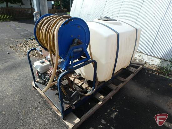 Slide-in truck bed 200 gallon poly water tank with transfer pump,