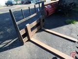 Universal mount pallet fork skid loader attachment, 4