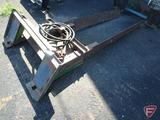Homemade hydraulic tree ball grapple skid loader attachment, 60