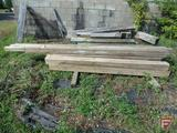 Treat lumber posts: 4x4, 6x6s; 2ft to 12ft lengths