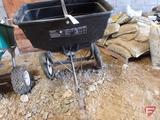 Craftsman 3.3 cu ft pull type spreader, 160lb capacity, pneumatic wheels off rims