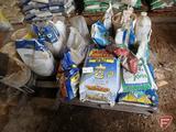 (2) full, (1) partial pails of Gertens weed preventer, Treflan plus 0-0-10; (3) 50lb bags Award
