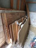 (4) plywood sheets, (1) chipboard panel, (4) 2