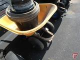True Temper 2 wheel poly wheelbarrow with pots