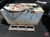Delta 100 gallon metal fuel tank with GPI 12v electric pump, 45