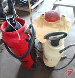 Solo backpack sprayer and Chapin Extreme hand held sprayer, and Craftsman multipurpose