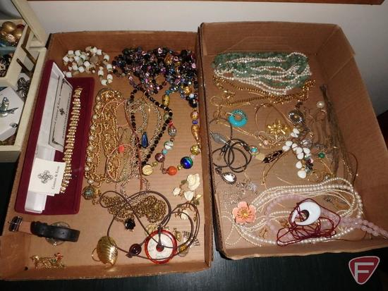 Ladies jewelry, necklaces, bracelet, earrings, pins, some Camrose & Kross replica pieces,
